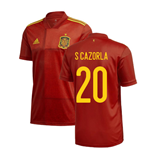 2020-2021 Spain Home Adidas Football Shirt (S CAZORLA 20)