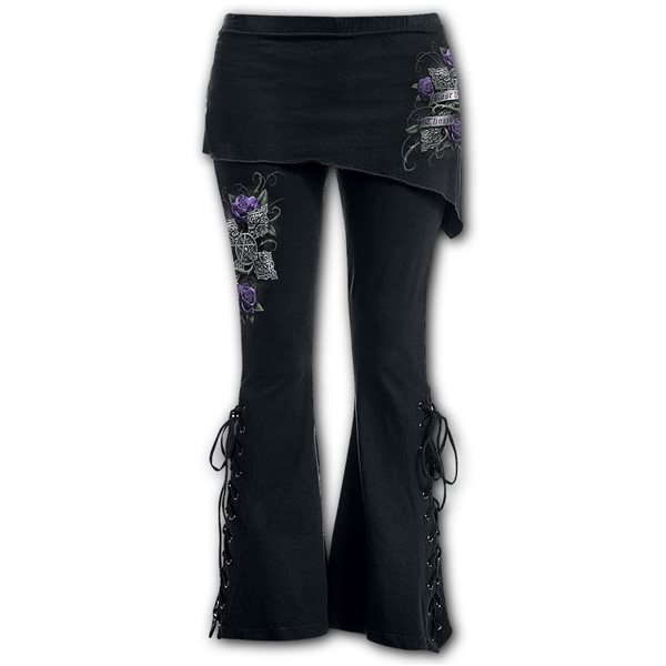 Every Rose - 2in1 Boot-Cut Leggings with Micro Slant Skirt
