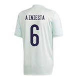 2020-2021 Spain Adidas Training Jersey (Dash Green) (A INIESTA 6)