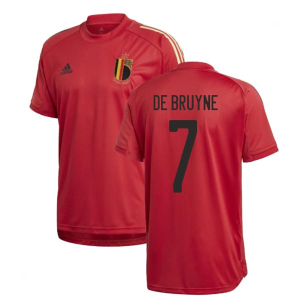 2020-2021 Belgium Adidas Training Shirt (Red) (DE BRUYNE 7)