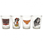 Wonder Woman 4pk Shot Glass Set