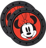 Minnie Mouse Face Car Cup Holder Coaster 2-Pack