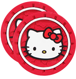 Hello Kitty Face Car Cup Holder Coaster 2-Pack