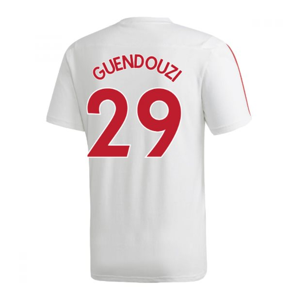 2019-2020 Arsenal Adidas Training Tee (White) (GUENDOUZI 29)