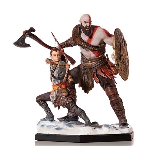 Gow Kratos And Atreus 1/10 Art Dlx St Statue