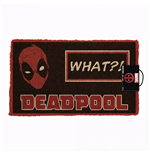 Deadpool What?! 17x 29 Doormat with Non-skid Back