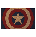 Captain America Shield 17x 29 Doormat with Non-skid Back