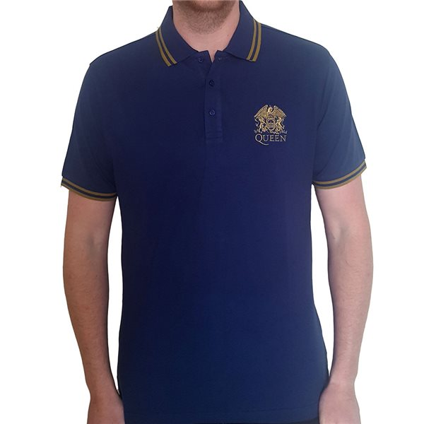 Queen Unisex Polo Shirt: Crest Logo