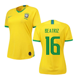 2019-2020 Brazil Home Nike Womens Shirt (Beatriz 16)