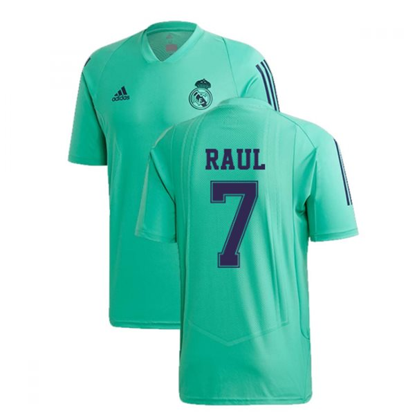 2019-2020 Real Madrid Adidas EU Training Shirt (Green) (RAUL 7)