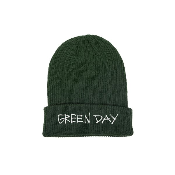 Green Day Cap Label Flip Beanie