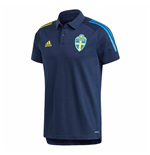 2020-2021 Sweden Polo Shirt (Night Indigo)