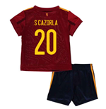 2020-2021 Spain Home Adidas Baby Kit (S CAZORLA 20)