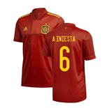 2020-2021 Spain Home Adidas Football Shirt (A INIESTA 6)