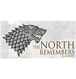 Game Of Thrones North Remember On Glass Poster