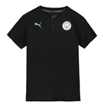 2019-2020 Manchester City Puma Casuals Polo Shirt (Black) - Kids
