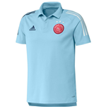2020-2021 Ajax Adidas Polo Shirt (Ice Blue)