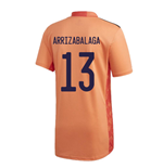 2020-2021 Spain Home Adidas Goalkeeper Shirt (Orange) (Arrizabalaga 13)