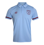 2020-2021 West Ham Training Poly Polo Shirt (Blue)