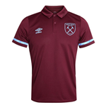 2020-2021 West Ham Training Poly Polo Shirt (Claret)