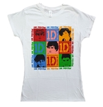 One Direction Ladies Tee: 9 Squares (Skinny Fit)