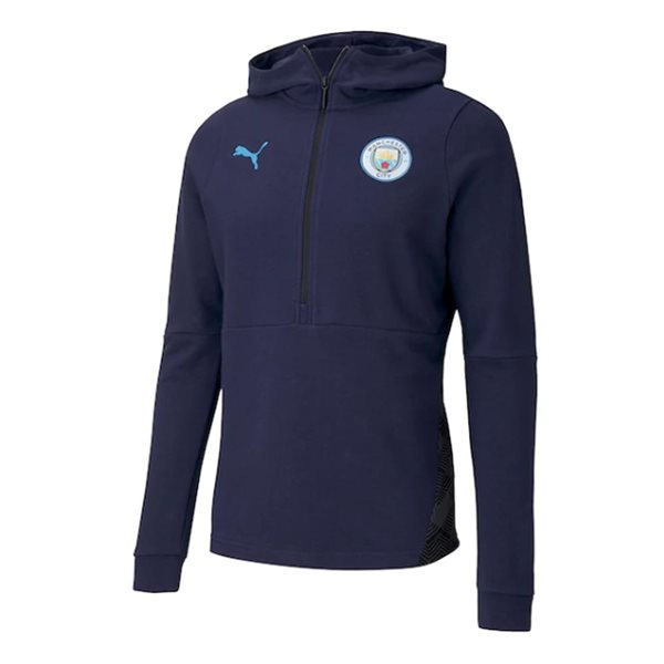 2020-2021 Manchester City Puma Casuals Hoody (Peacot)