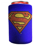 Superman Symbol Blue Metallic Finish Can Cooler