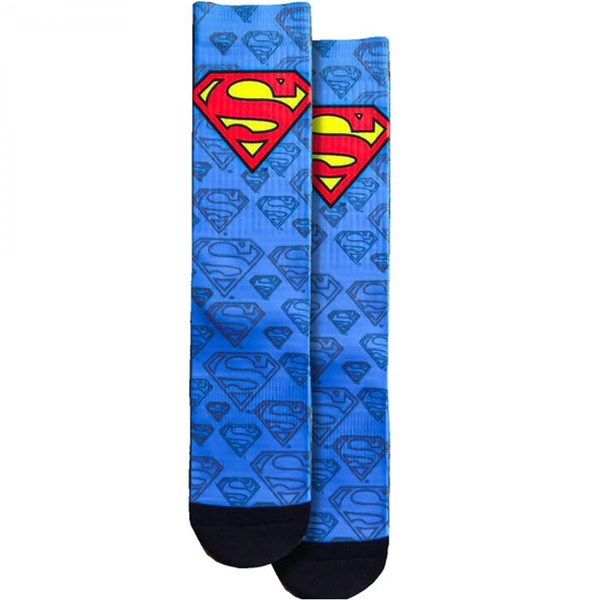 Superman Logo and Symbols All Over Crew Socks