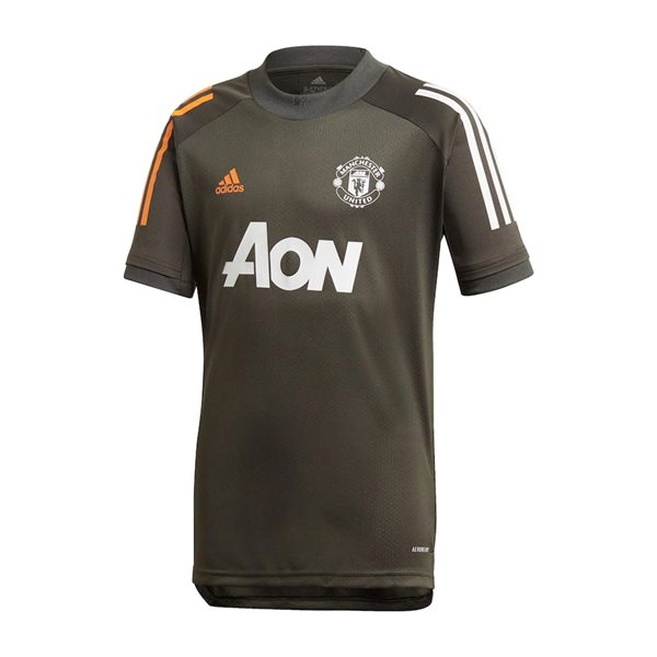 2020-2021 Man Utd Adidas Training Shirt (Green) - Kids