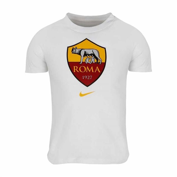 2020-2021 AS Roma Evergreen Crest Tee (White)