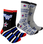 Wonder Woman Stars and Stripes 2-Pack Casual Crew Socks