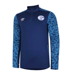 2020-2021 Schalke Half Zip Training Top (Blue)