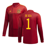 2020-2021 Spain Home Adidas Long Sleeve Shirt (DE GEA 1)