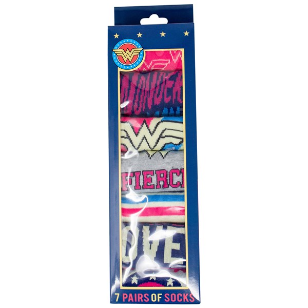 Wonder Woman Sock of the Week Assorted Women's Shorties Socks 7-Pair Box