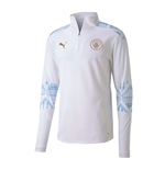 2020-2021 Man City Stadium Half Zip Top (White) - Kids