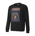 2020-2021 Man City ftblCore Graphic Sweat Top (Black)