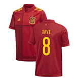 2020-2021 Spain Home Adidas Football Shirt (Kids) (XAVI 8)