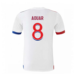 2020-2021 Olympique Lyon Adidas Home Football Shirt (AOUAR 8)