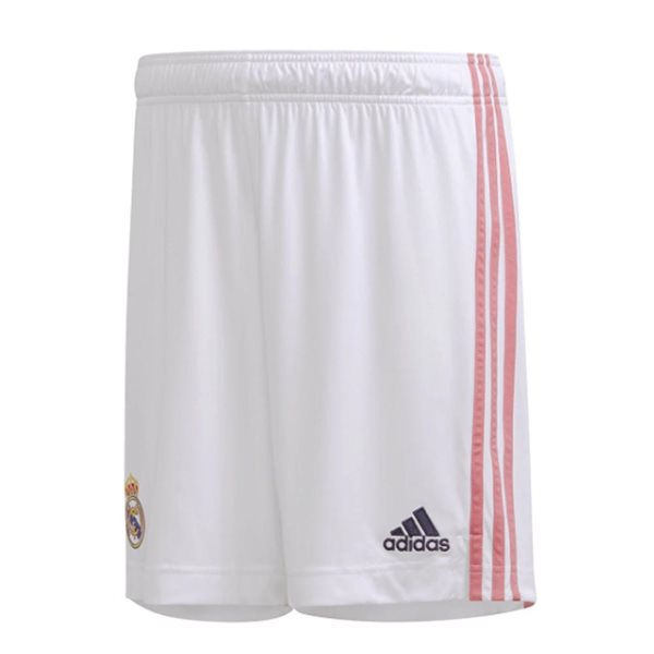 2020-2021 Real Madrid Adidas Home Shorts (White) - Kids