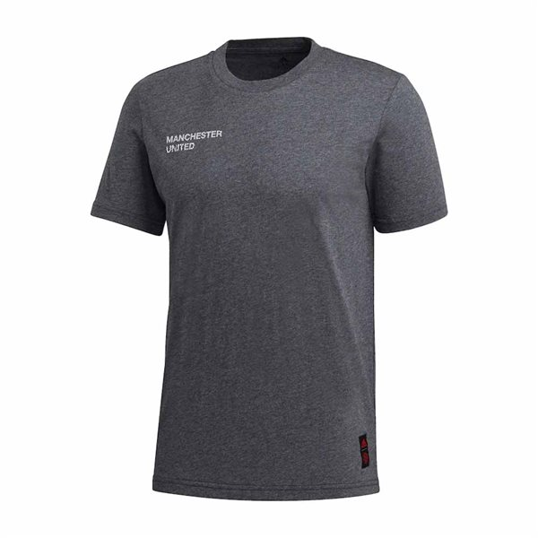 2020-2021 Man Utd Adidas STR Graphic Tee (Dark Grey)