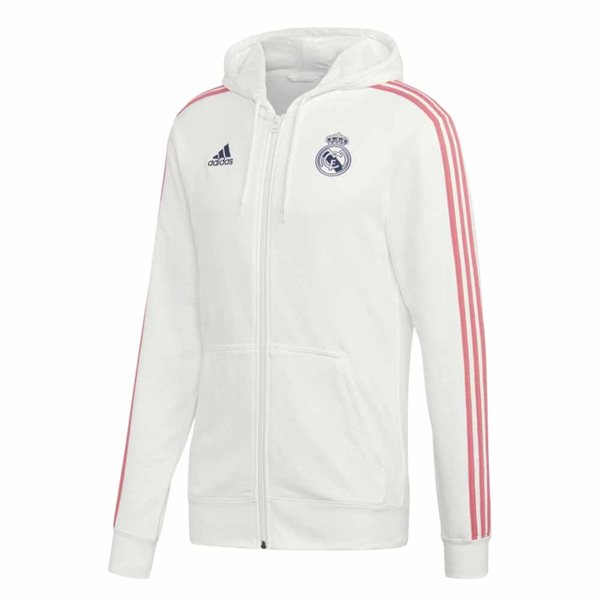 2020-2021 Real Madrid 3S Full Zip Hoody (White)