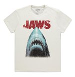 UNIVERSAL Jaws Movie Poster T-Shirt, Male, Medium, White