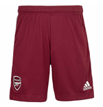 2020-2021 Arsenal Adidas Away Shorts Maroon (Kids)