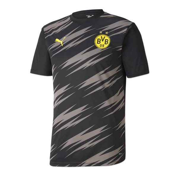2020-2021 Borussia Dortmund Puma Warm Up Shirt (Black-Asphalt)