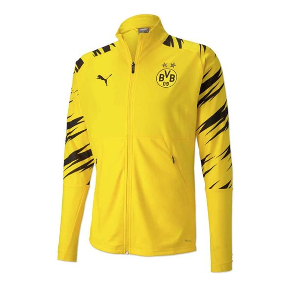 2020-2021 Borussia Dortmund Puma Stadium Jacket (Yellow)