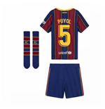 2020-2021 Barcelona Home Nike Little Boys Mini Kit (PUYOL 5)