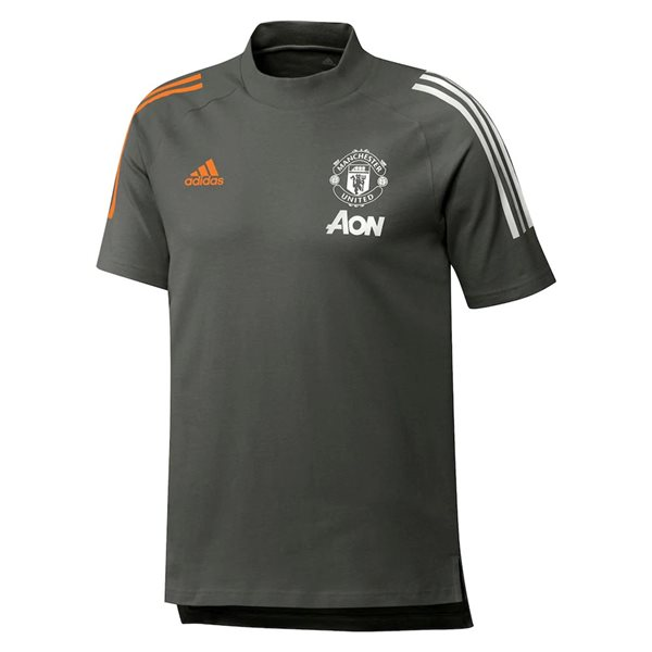 2020-2021 Man Utd Adidas Training Tee (Green)