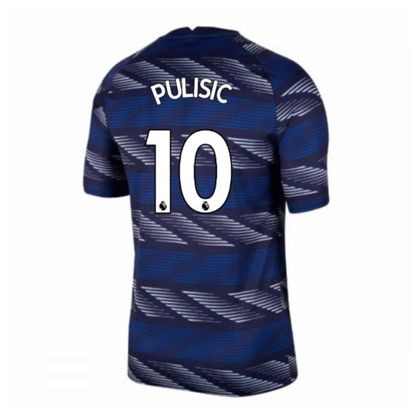 2020-2021 Chelsea Nike Pre-Match Training Shirt (Blue) - Kids (PULISIC 10)