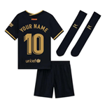 2020-2021 Barcelona Away Nike Little Boys Mini Kit (Your Name)