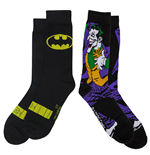 Batman Symbol and Joker Character Crew Socks 2-Pair Pack